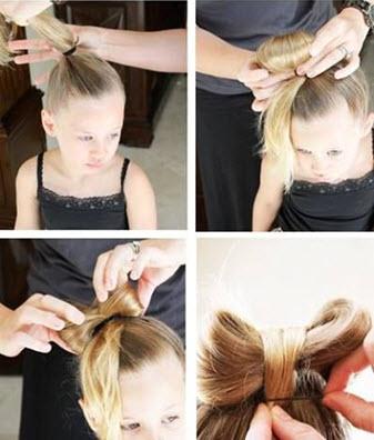 Процесс создания банта из волос