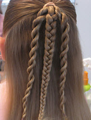 Коса и два скрученных жгута