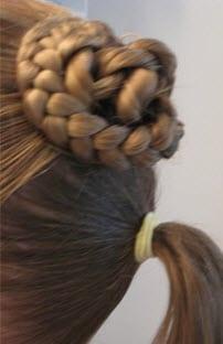 Нижняя часть волос, собранная в тугой хвост