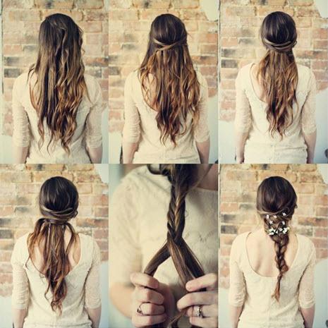 Процесс создания прически на длинные волосы для теплого времени года