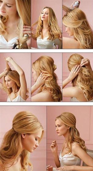 Процесс создания прически на длинные волосы в романтическом стиле