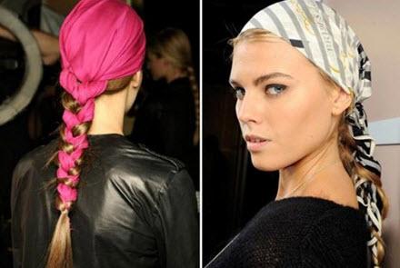 Способ завязать платок для обладательниц длинных волос
