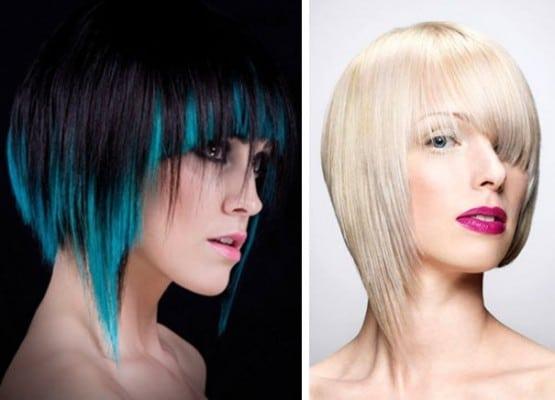 Асимметрия с волосами разных цветов