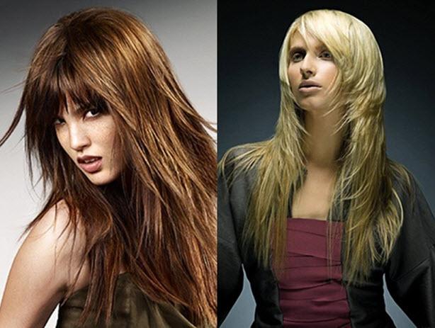 Градуированная стрижка на длинные волосы фото