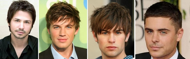 Причёски на круглое лицо с челкой мужские