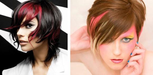 Мелирование на короткие волосы в стиле  Two-Tone