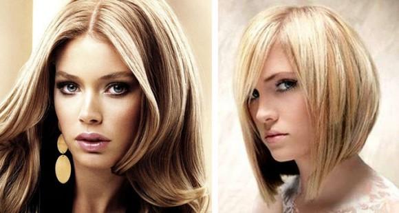 Французская техника мелирования на русые волосы