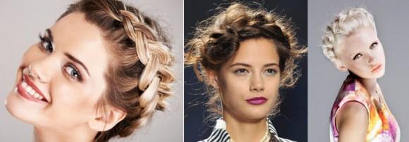 Прически для наращенных волос в виде косы в форме короны