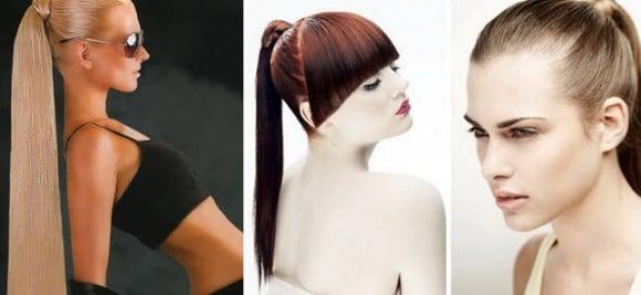 Прически для наращенных волос в виде конского хвоста