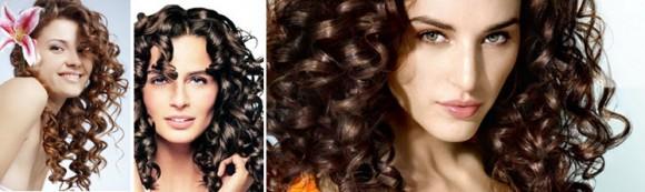 Волосы, накрученные на спиральные бигуди