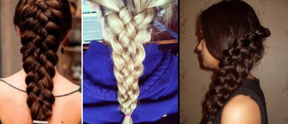Красивая и объемная коса из 5 прядей