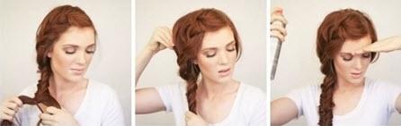 Процесс создания элегантной косички из длинных волос