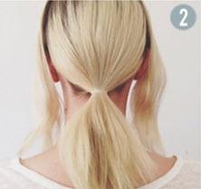 Нижняя часть волос, собранная в хвост