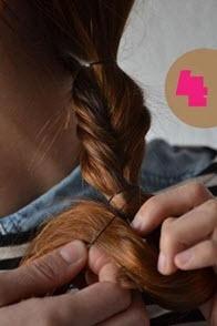 Фиксация волос резинкой