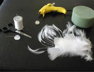 Материалы и инструменты для создания украшения для прически