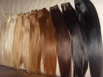 Накладные волосы разных цветов
