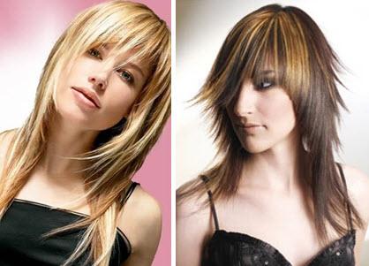 Асимметричные прически для длинных тонких волос