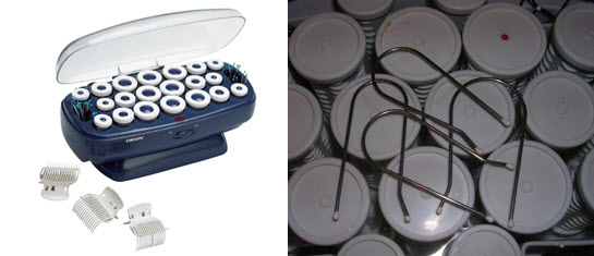 Электрические бигуди с фиксаторами в виде зажимов и шпилек