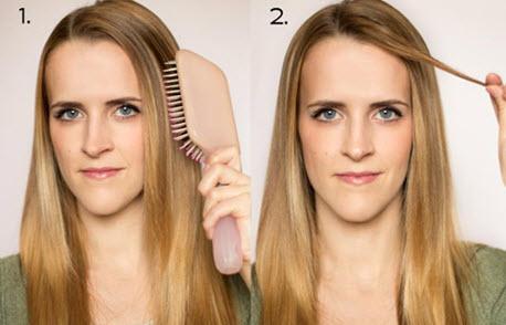 Подготовка волос к накручиванию на бигуди