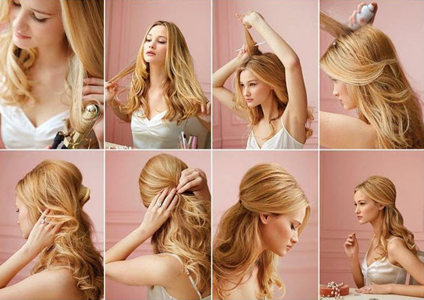 Техника выполнения прически на средние волосы